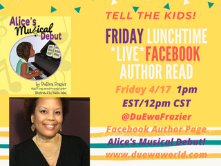 Virtual Read Aloud of DuEwa's Books-Fridays Facebook LIVE