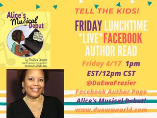 Virtual Read Aloud of DuEwa's Books-Fridays Facebook LIVE