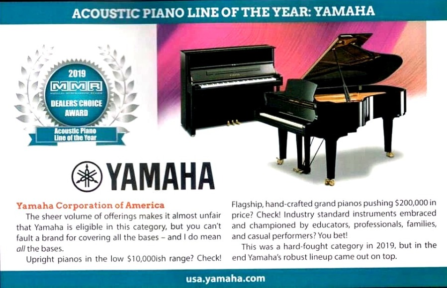 YAMAHA-PIANO LINE OF THE YEAR