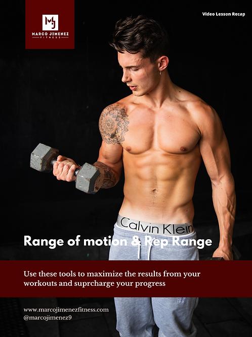 Range of Motion & Rep Range Guide