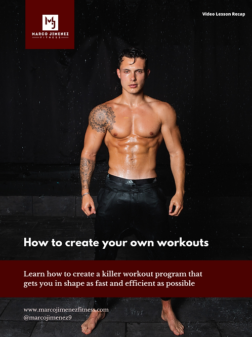 How to Create Your Own Workout Program - E-Book