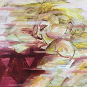 Dede Sleeping painting study 6 detail