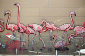 Taking Flight Flamingo Sculpture