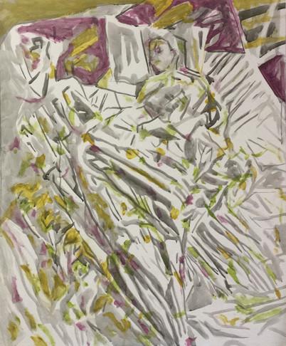 Dede Sleeping painting study 4