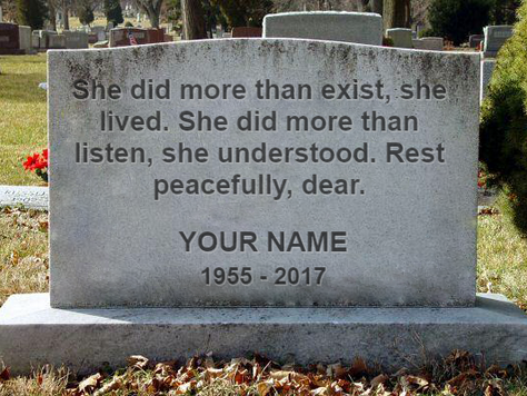 Which Epitaph Better Describes You?