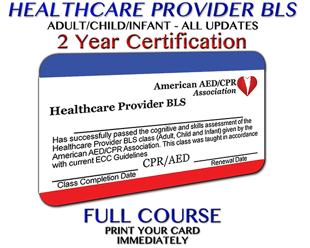 New Enrollment for Non Health Provider BLS/CPR/AED Certification Courses