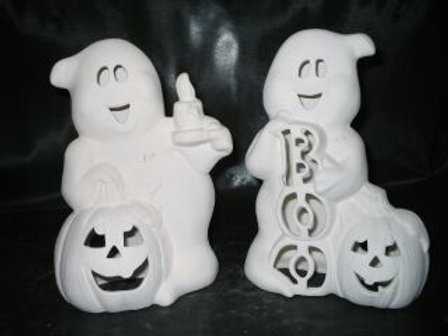 Friendly Ghost with Pumpkin