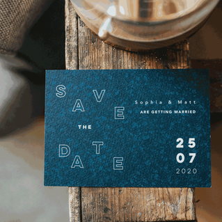 A6 Save the date card