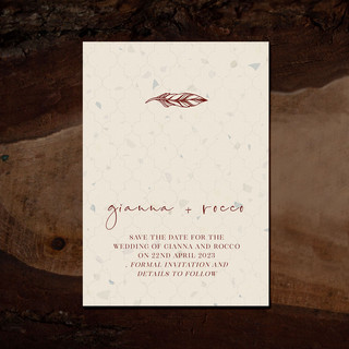 MOROC save the date card
