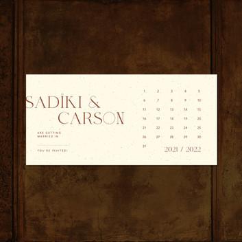 CARSON Calendar card