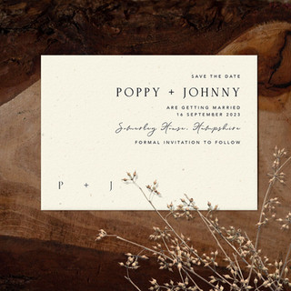 DECO save the date card