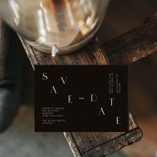 ALPHA save the date card