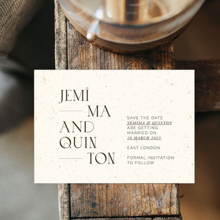 EMBER save the date card