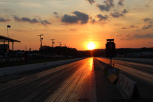 Race Track with Sunset