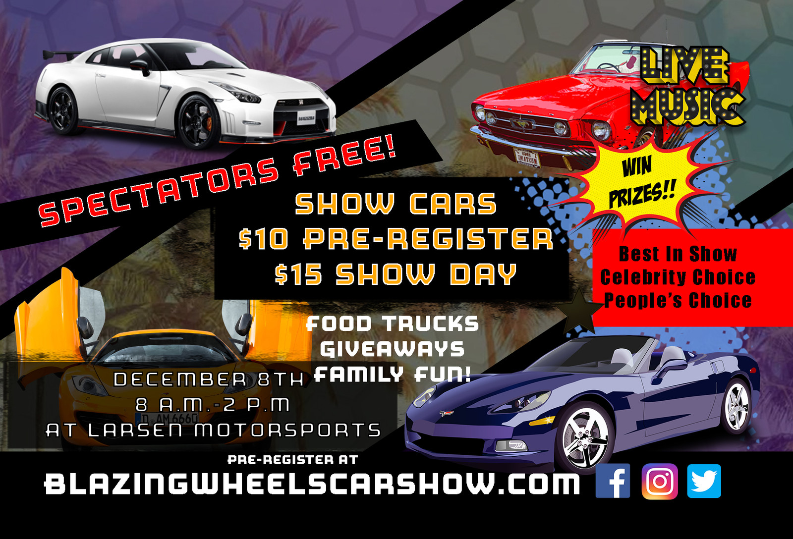 Blazing Wheels Car Show Larsen Motorsports Florida Car Show - Car show giveaways