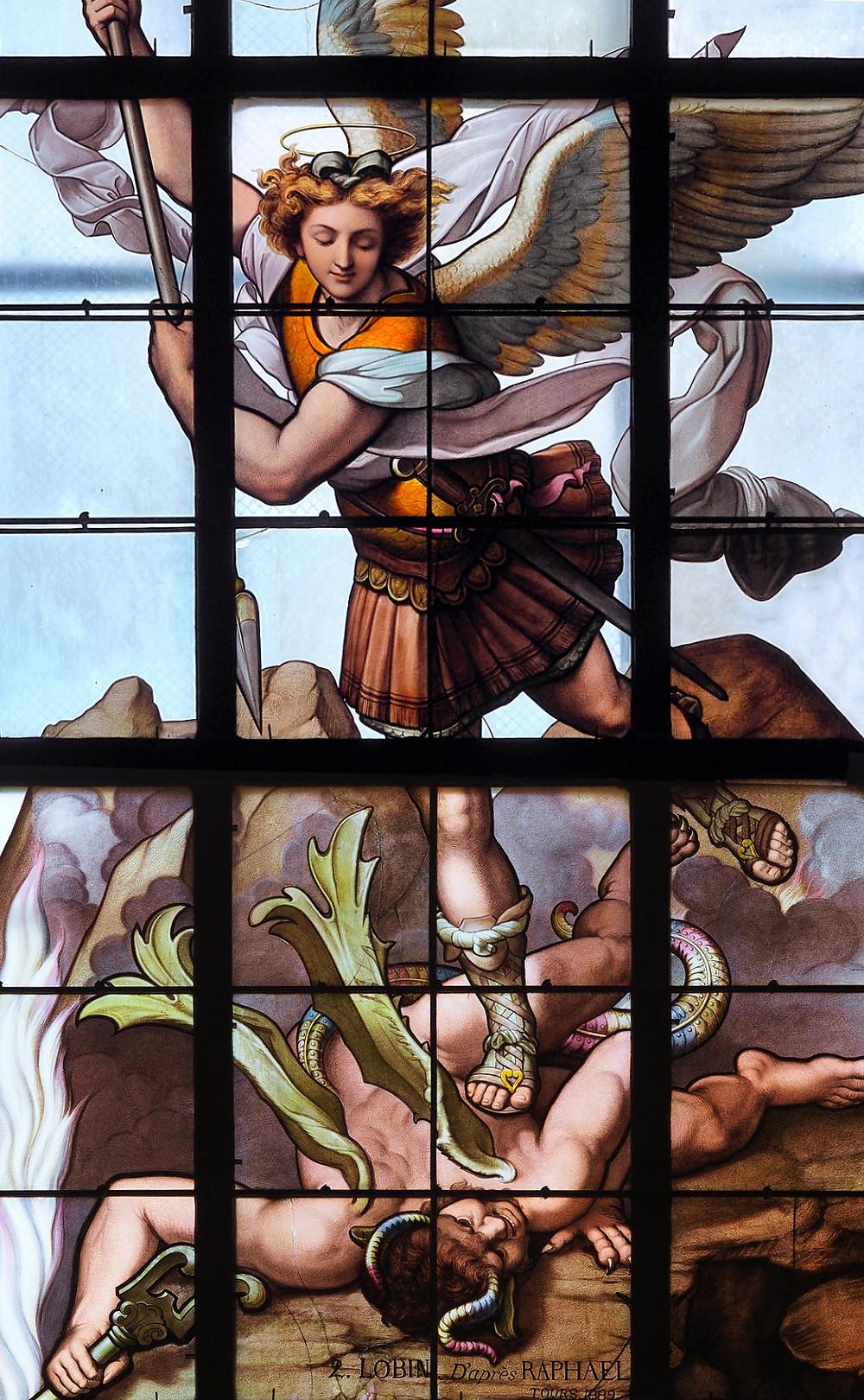 Saint-Michel par l'atelier Lobin, vue rapprochée