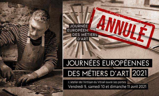 L'Atelier devait ouvrir ses portes pour les Journées Européennes des Métiers d'Art (JEMA)