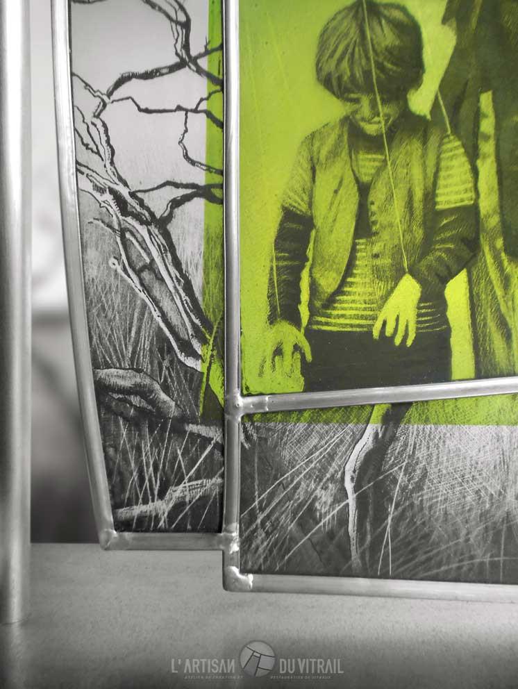 L\'Enfant Clown (détail) | Atelier de vitraux | L\'Artisan du ...
