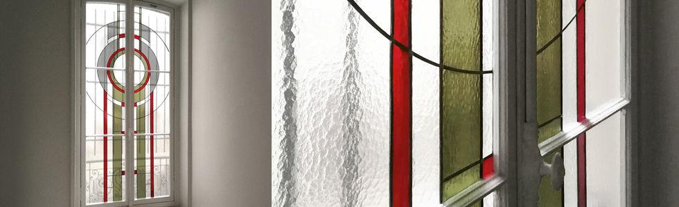 Création vitrail Art Déco