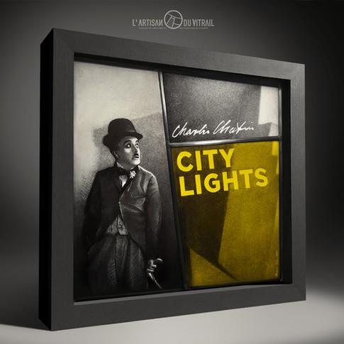Vitrail de décoration Chaplin 'Les Lumières de la Ville (City Lights)'