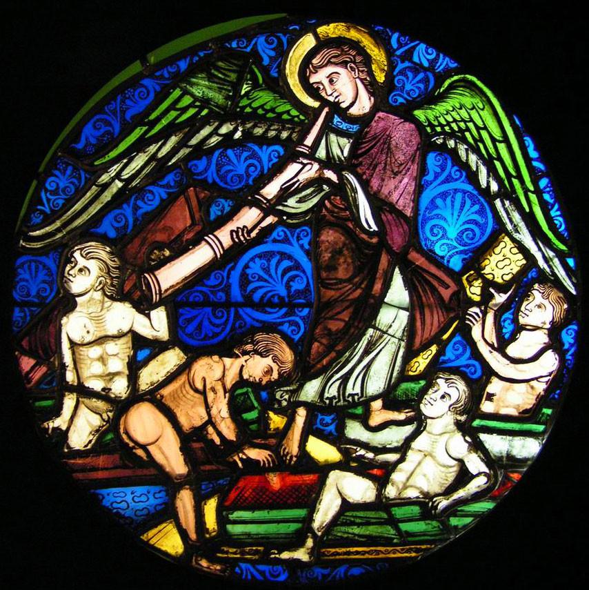 Vitrail gothique de la Sainte-Chapelle (vers 1200)