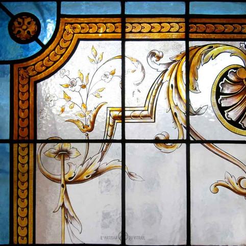 Restauration peinture sur verre