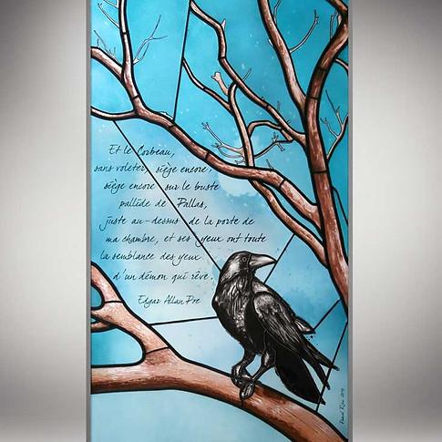 Vitrail 'Le Corbeau'