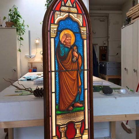 Restauration d'un vitrail du XIXe