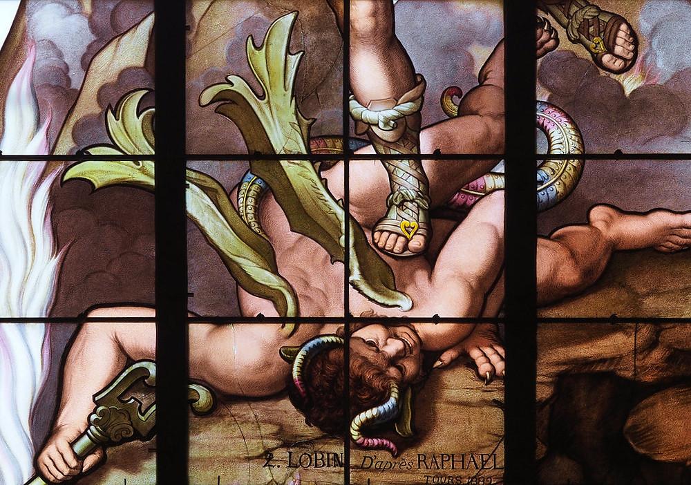 Saint-Michel par l'atelier L. Lobin (détail)