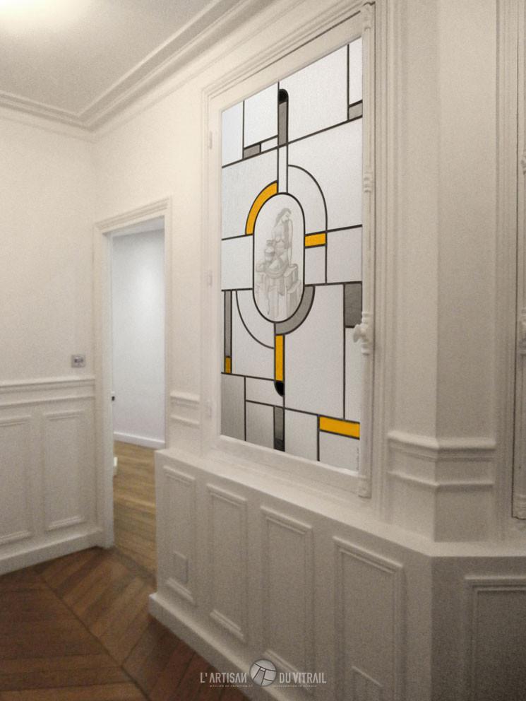 pandore vitrail art d co. Black Bedroom Furniture Sets. Home Design Ideas
