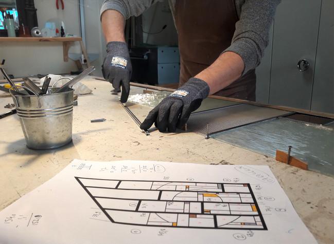 Nouvelle création de l'atelier : une verrière Art deco
