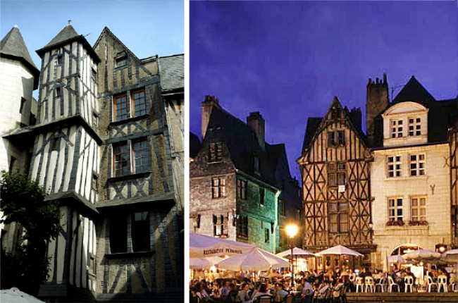 Maison à colombages du vieux Tours