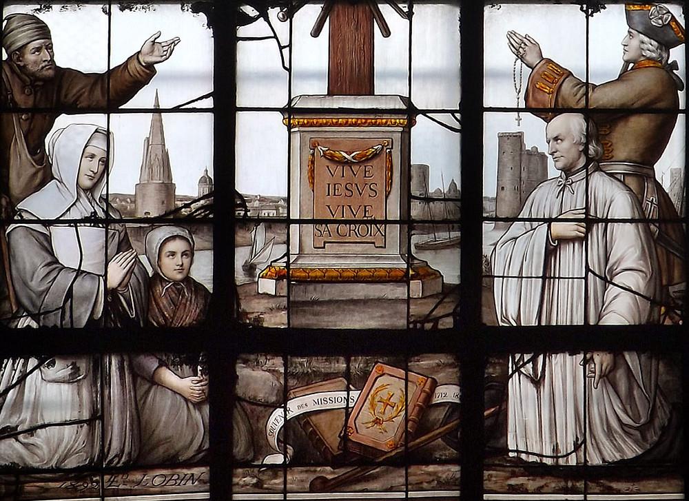 Vitrail (1881) de la Cathédrale Saint-Louis de La Rochelle