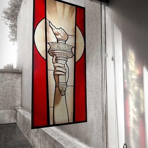 'Liberty'- Vitrail en technique Tiffany