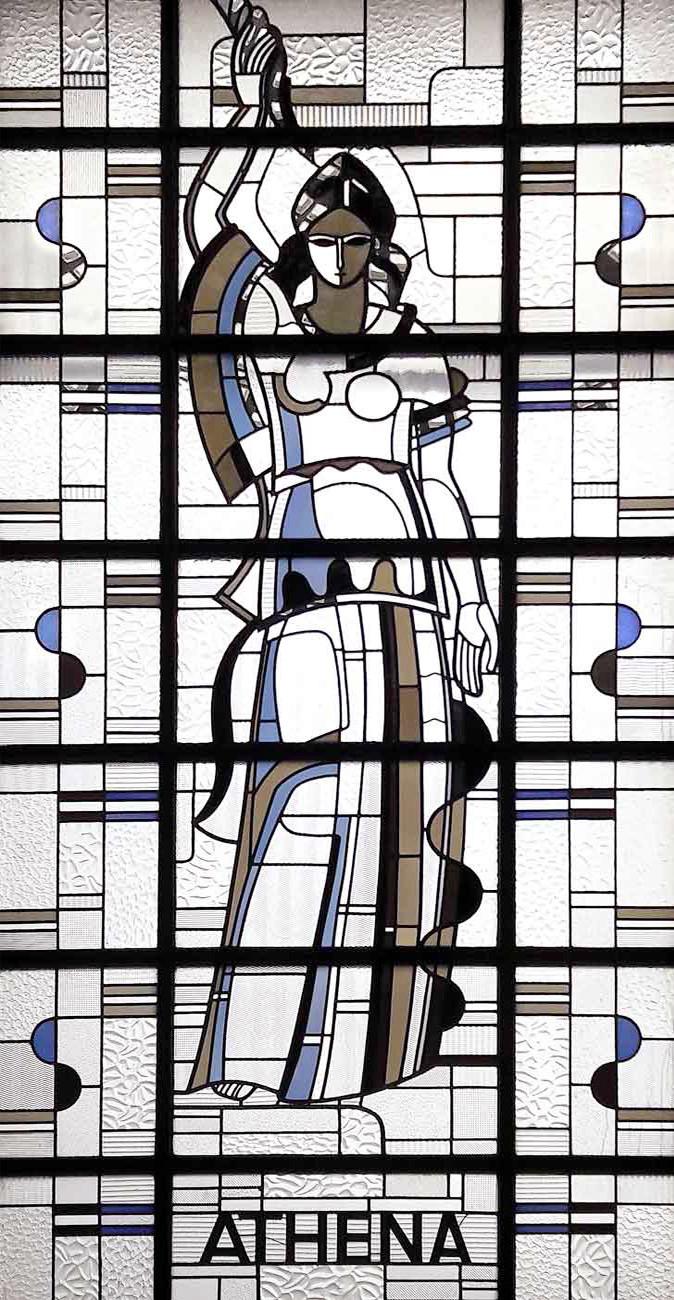 Vitrail de style Art Deco, de Louis Barillet