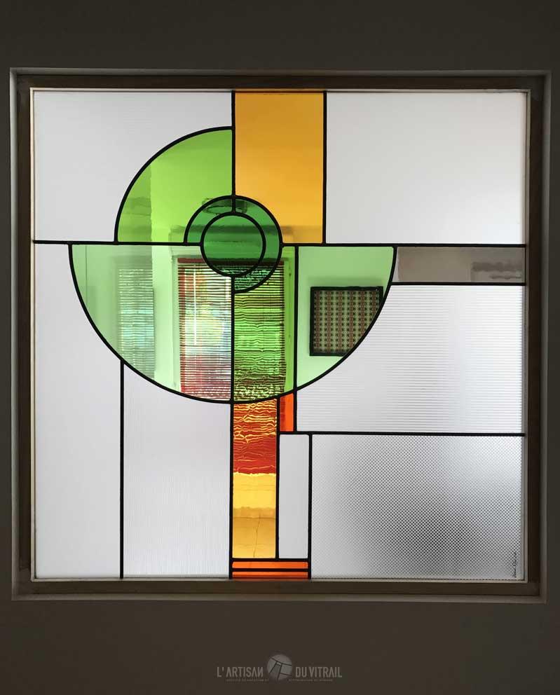 Vitrail Art Déco \'Néo\' | Création vitraux | L\'Artisan du Vitrail ...