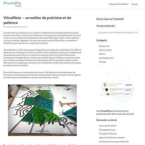 Article blog ProntoPro