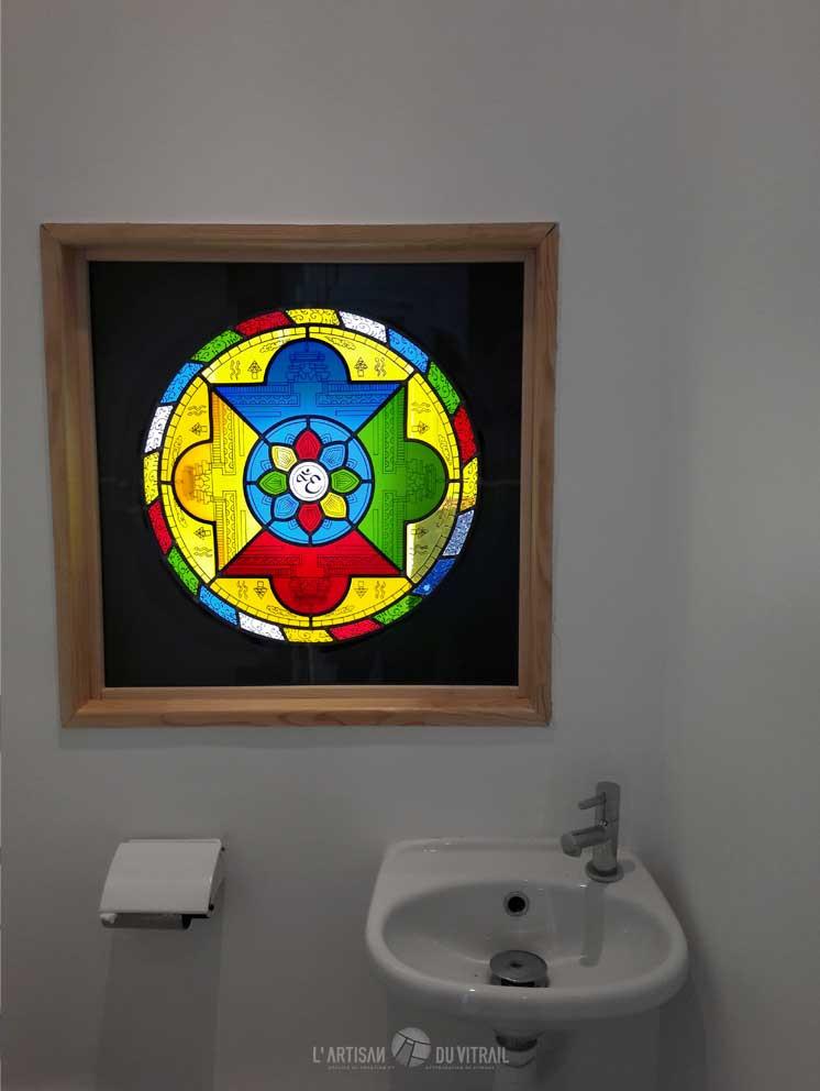 Vitrail \'Le Mandala 2\' | Création vitraux | L\'Artisan du Vitrail | Drôme