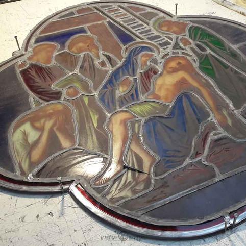 Restauration vitrail religieux