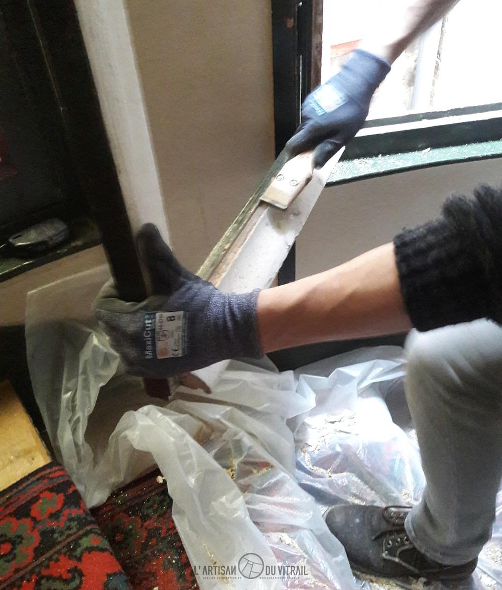 Préparation et nettoyage de la feuillure