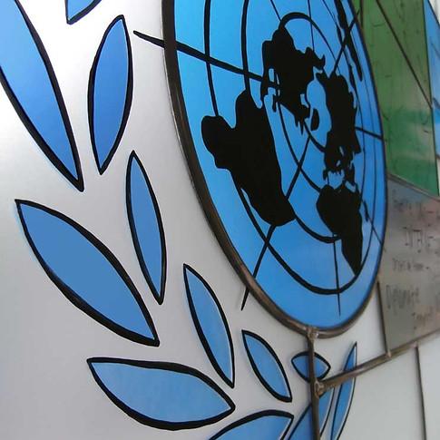 Vitrail 'Le Droit International' (détail)
