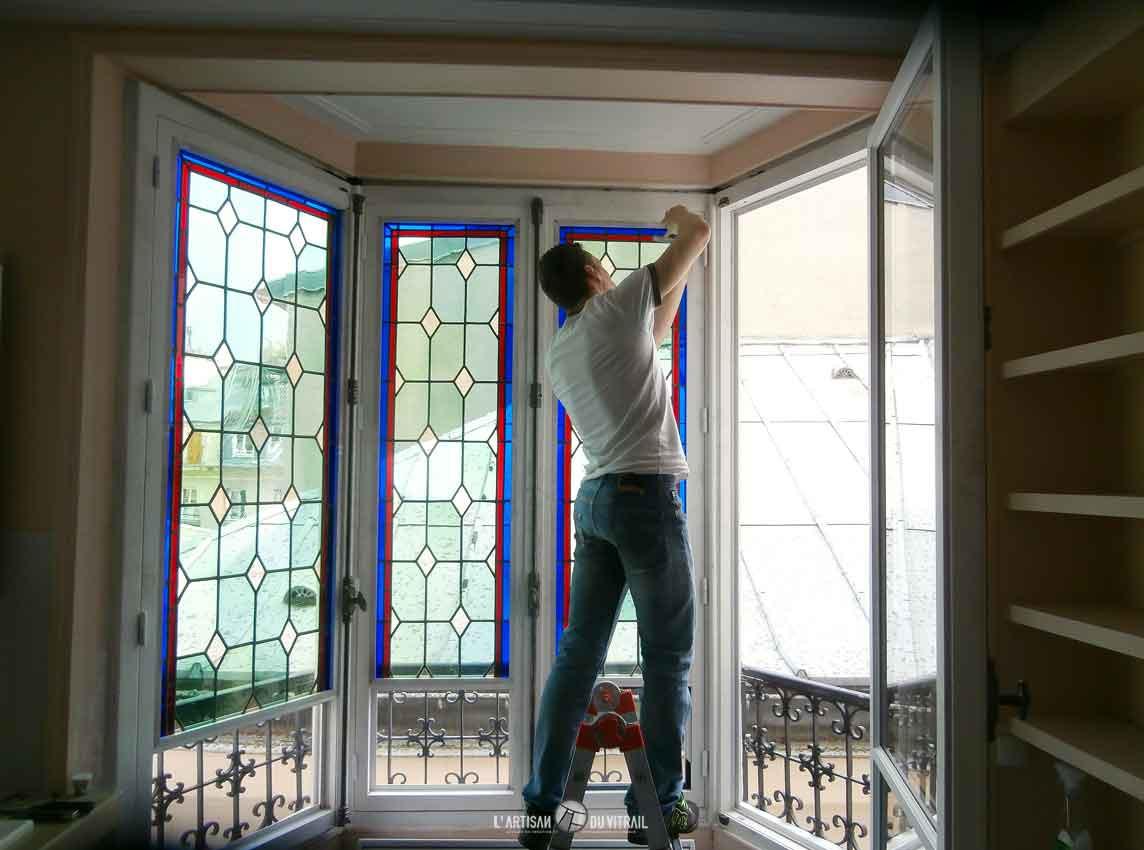 Restauration vitrail d\'appartement | Création vitraux | L\'Artisan ...