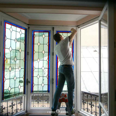 Restauration vitrail d'appartement