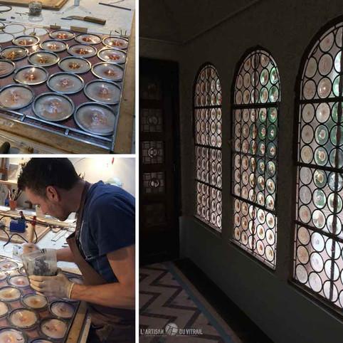 Restauration vitraux XXème s.