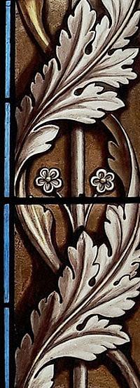 Détail d'un vitrail de la Cathédrale Saint-Louis de La Rochelle