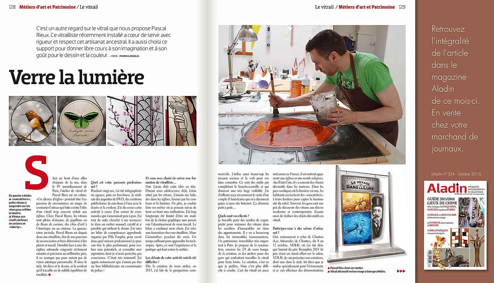 Aladin | Création vitraux | L\'Artisan du Vitrail | Drôme