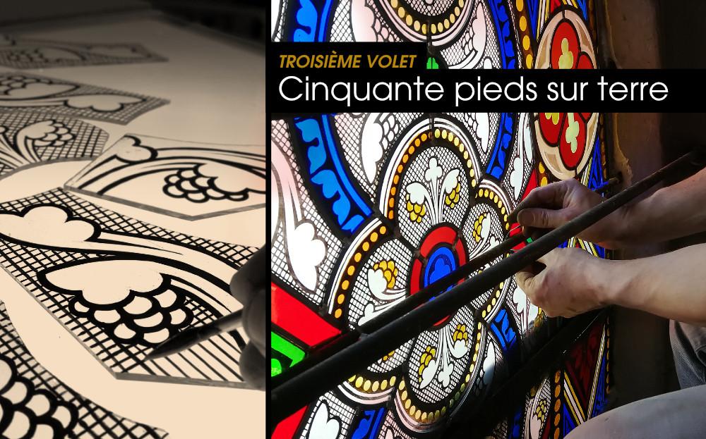 Restauration des vitraux de l'église Ste. Croix à Montélimar