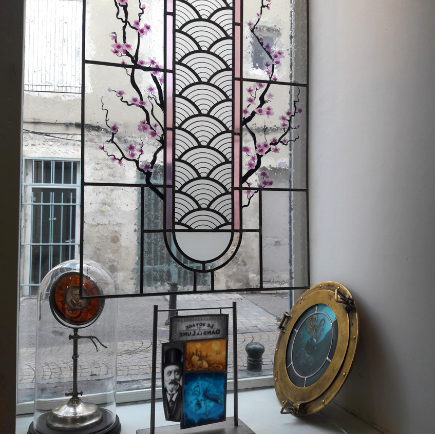 Photo de la vitrine, côté droite