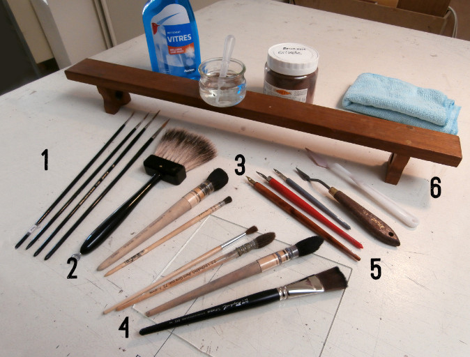 Les outils nécessaires pour peindre la grisaille