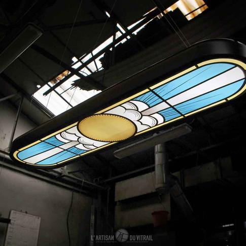 'Gaby 2' - Luminaire vitrail contemporain